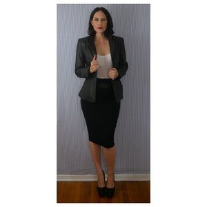 Real Leather fitted Blazer